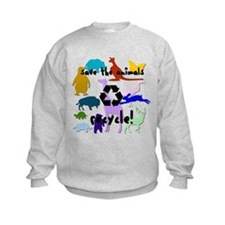 Save the Animals: Recycle! Sweatshirt
