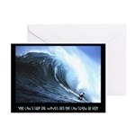 you can't stop the waves,Greeting Cards (Pk of 10)