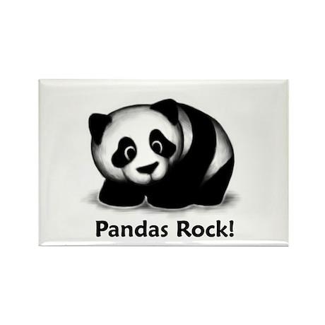 Pandas Rock! Rectangle Magnet (100 pack)