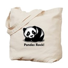 Pandas Rock! Tote Bag