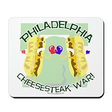 Philly Cheesesteak War Mousepad