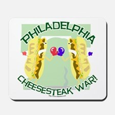 Philly Cheesesteak War Mousepad