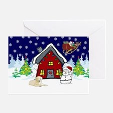 Cute Yellow Lab Christmas Greeting Card