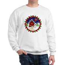 Cute Yellow Lab Christmas Sweatshirt