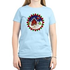 Cute Yellow Lab Christmas T-Shirt