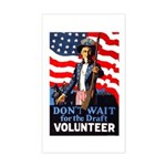 Don't Wait to Volunteer Rectangle Sticker