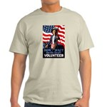 Don't Wait to Volunteer (Front) Light T-Shirt