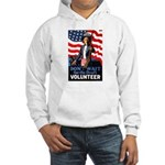 Don't Wait to Volunteer (Front) Hooded Sweatshirt