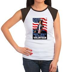 Don't Wait to Volunteer Women's Cap Sleeve T-Shirt
