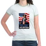 Don't Wait to Volunteer Jr. Ringer T-Shirt
