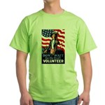Don't Wait to Volunteer Green T-Shirt