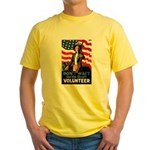 Don't Wait to Volunteer (Front) Yellow T-Shirt