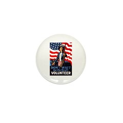Don't Wait to Volunteer Mini Button (10 pack)