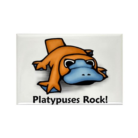 Platypuses Rock! Rectangle Magnet