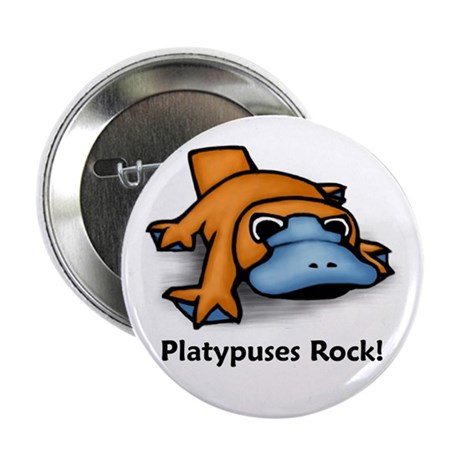 """Platypuses Rock! 2.25"""" Button (10 pack)"""