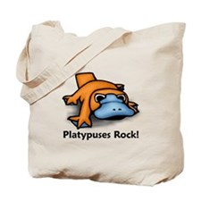 Platypuses Rock! Tote Bag