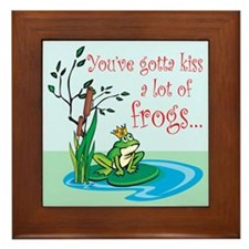 Frog Prince items Framed Tile