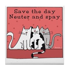 Cat Spay and Neuter Tile Coaster