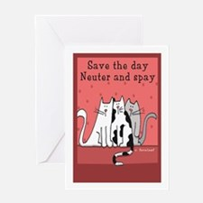 Cat Spay and Neuter Greeting Card