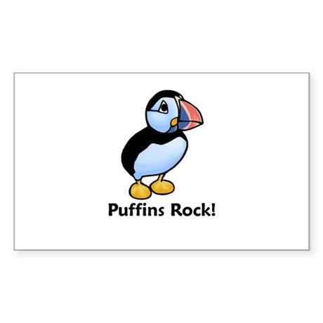 Puffins Rock! Rectangle Sticker