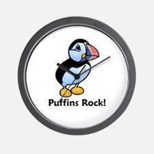 Puffins Rock! Wall Clock