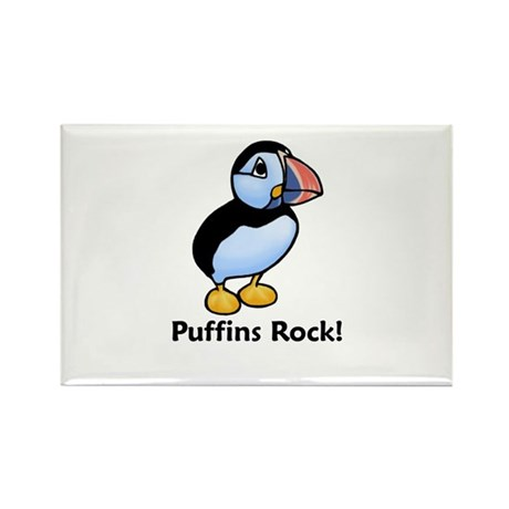 Puffins Rock! Rectangle Magnet