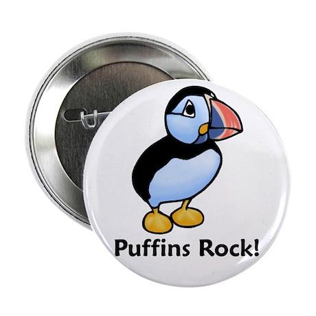 """Puffins Rock! 2.25"""" Button"""