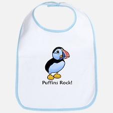 Puffins Rock! Bib