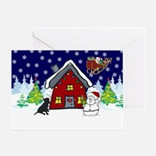 Cute Black Lab Christmas Greeting Card