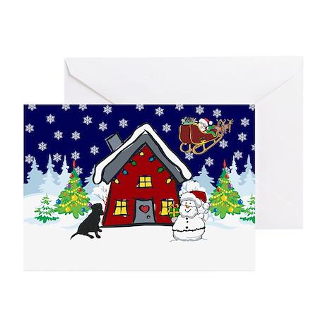 Cute Black Lab Christmas Greeting Cards (Pk of 10)