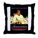 VA Veterans Administration Nurses Throw Pillow