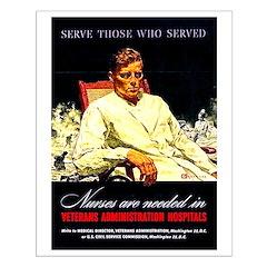 VA Veterans Administration Nurses Posters