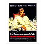 VA Veterans Administration Nurses Small Poster