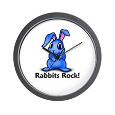 Rabbits Rock! Wall Clock