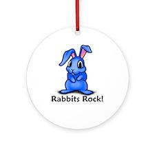 Rabbits Rock! Ornament (Round)