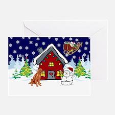 Cute Irish Setter Christmas Greeting Card