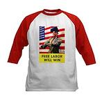 Free Labor Will Win (Front) Kids Baseball Jersey