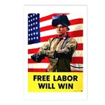 Free Labor Will Win Postcards (Package of 8)