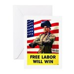 Free Labor Will Win Greeting Cards (Pk of 10)