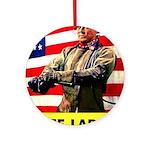 Free Labor Will Win Ornament (Round)