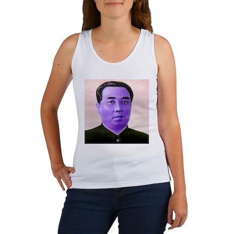 Purple Kim Il-sung Women's Tank Top