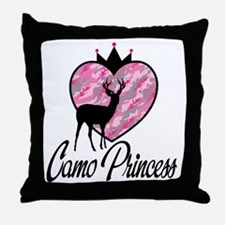 Camo Princess Throw Pillow