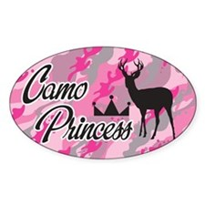Camo Princess Oval Decal
