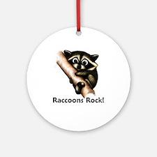 Raccoons Rock! Ornament (Round)