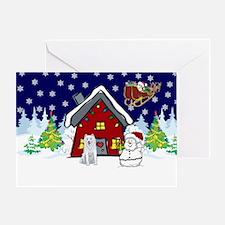 Cute Husky Christmas Greeting Card