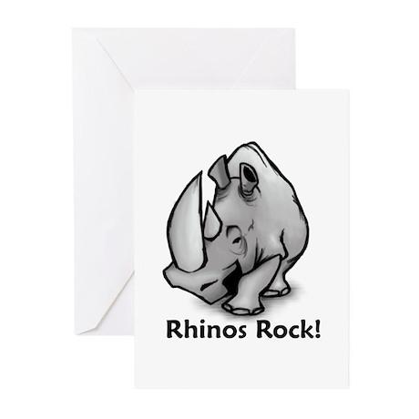 Rhinos Rock! Greeting Cards (Pk of 20)