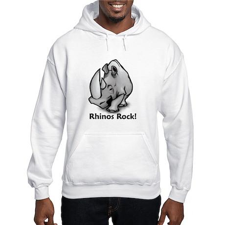 Rhinos Rock! Hooded Sweatshirt