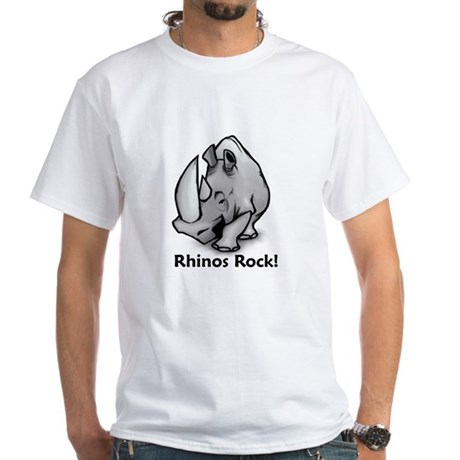 Rhinos Rock! White T-Shirt