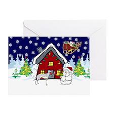 Cute Greyhound Christmas Greeting Card