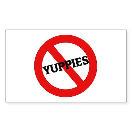 Anti-Yuppies Rectangle Sticker